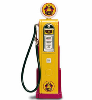 Digital Gas Pump Dixie, Yellow - Yatming 98721 - 1/18 scale diecast model