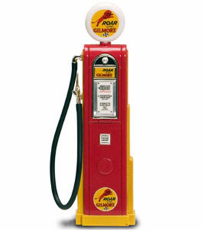 Digital Gas Pump Roar with Gilmore, Red - Yatming 98731 - 1/18 scale diecast model