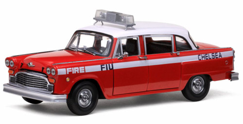 1981 Checker Chelsea Fire Engine, Red - Sun Star 2508 - 1/18 Scale Diecast Model Toy Car