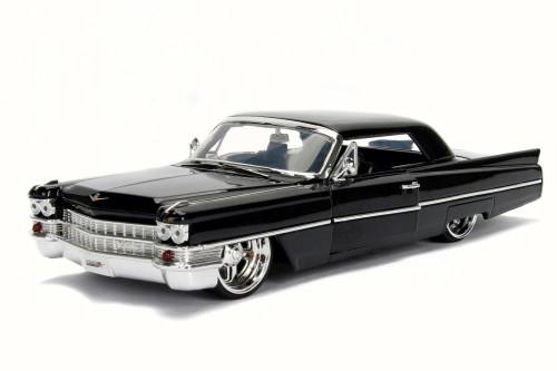 1963 Cadillac, Black - JADA 99552DP1 - 1/24 Scale Diecast Model Toy Car