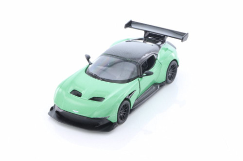 2016 Aston Martin Hard Top, Green - Kinsmart 5407D - 1/38 Scale Diecast Model Toy Car