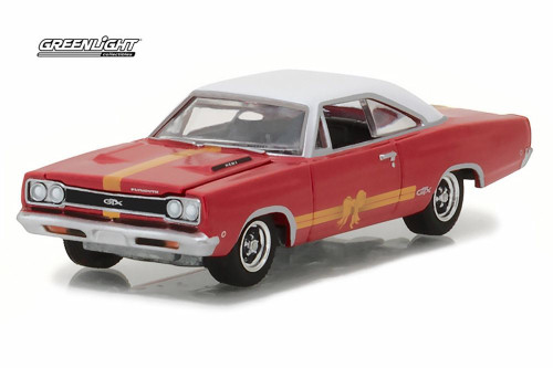 1968 Plymouth GTX Hard Top, Red - Greenlight 37120/48 - 1/64 Scale Diecast Model Toy Car