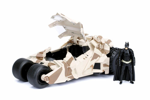 Batmobile Camouflage Version with Batman Figure, The Dark Knight - Jada 98543 - 1/24 scale Diecast Model Toy Car