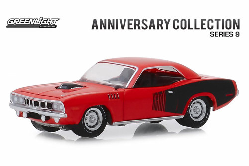 1971 Plymouth HEMI Cuda, 426 HEMI 50 Years - Greenlight 28000E/48 - 1/64 scale Diecast Model Toy Car