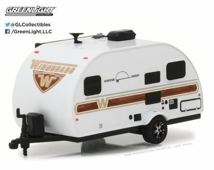2017 Winnebago Winnie Drop 1710, White w/ Tan - Greenlight 34030E - 1/64 Scale Diecast Model Toy Car
