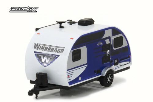 2016 Winnebago Winnie Drop 1710, Blue - Greenlight 34020D - 1/64 Scale Diecast Model Toy Car