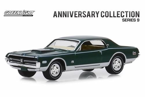 1968 Mercury Cougar XR-7 GT-E 428 Cobra Jet, Cobra Jet 50th Anniversary - Greenlight 28000A/48 - 1/64 scale Diecast Model Toy Car