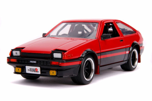 1986 Toyota Trueno AE86 Hardtop, Glossy Red with Black - Jada 99577 - 1/24 scale Diecast Model Toy Car