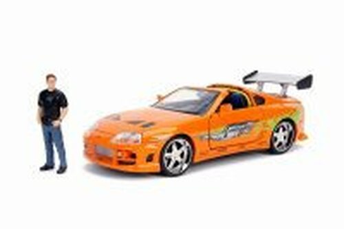 Toyota Supra with Brian Figure, Fast & Furious - Jada 30738 - 1/24 Scale Diecast Model Toy Car