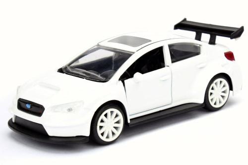 Mr. Little Nobody's Subaru WRX STI F8 Fate of Furious, White - Jada 98305 - 1/32 Scale Diecast Model Toy Car