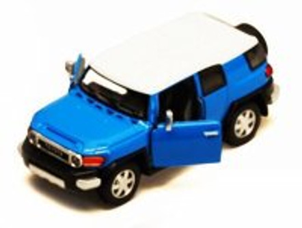 Toyota FJ Cruiser SUV, Blue - Kinsmart 5343D - 1/36 scale Diecast Model Toy Car (Brand New, but NOT IN BOX)