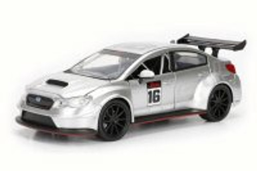 2016 Subaru WRX STI Widebody, Silver - Jada 99093DP1 - 1/24 Scale Diecast Model Toy Car