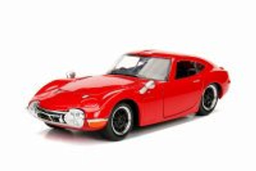 1967 Toyota 2000 GT Hard Top, Red - Jada 30539DP1 - 1/24 scale Diecast Model Toy Car