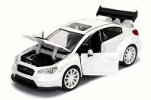 Mr. Little Nobody's Subaru WRX STI Fast & Furious F8 Fate of Furious, Glossy White - Jada 98296 - 1/24 Scale Diecast Model Toy Car