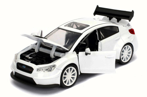 Mr. Little Nobody's Subaru WRX STI Fast & Furious F8 Fate of Furious, Glossy White - Jada 98435 - 1/24 Scale Diecast Model Toy Car