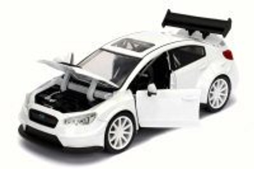 Mr. Little Nobody's Subaru WRX STI Fast & Furious F8 Fate of Furious, Glossy White - Jada 98435 - 1/24 Scale Diecast Model Toy Car