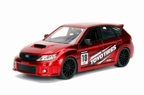 2012 Subaru Impreza WRX STI Hard Top, Red - Jada 30389WA1 - 1/24 Scale Diecast Model Toy Car