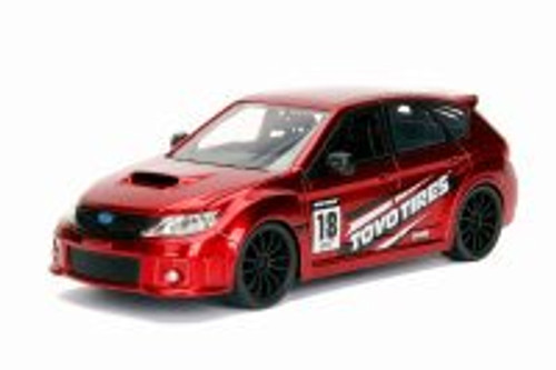 2012 Subaru Impreza WRX STI Hard Top, Red - Jada 30389WA1 - 1/24 Scale Diecast Model Toy Car