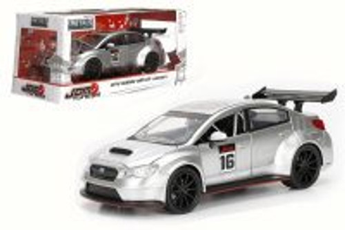 2016 Subaru WRX STI Widebody, Silver - Jada 99089WA1 - 1/24 Scale Diecast Model Toy Car