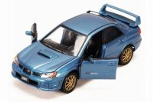 Subaru Impreza WRX Hard Top, Blue - Showcasts 73330BU - 1/24 scale Diecast Model Toy Car