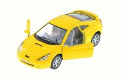Toyota Celica, Yellow - Kinsmart 5038D - 1/34 Scale Diecast Model Toy Car
