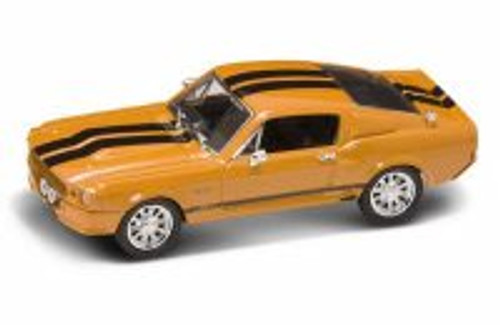 1967 Shelby GT500, Orange w/ Black Stripes - Yatming 43202 - 1/43 Scale Diecast Model Toy Car
