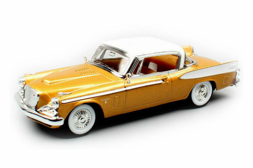 1958 Studebaker Golden Hawk Hard Top, Gold - Lucky Road Signature 94254G - 1/43 scale Diecast Model Toy Car