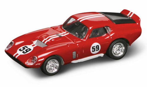 1965 Shelby Cobra Daytona Coupe #59, Red - Yatming 94242 - 1/43 Scale Diecast Model Toy Car