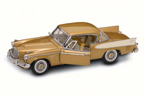 1958 Studebaker Golden Hawk, Gold - Road Signature 20018G - 1/18 Scale Diecast Model Toy Car