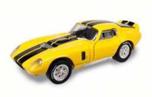 1965 Shelby Cobra Daytona Coupe, Yellow w/ Stripes - Road Signature 92408 - 1/18 Scale Diecast Model Toy Car