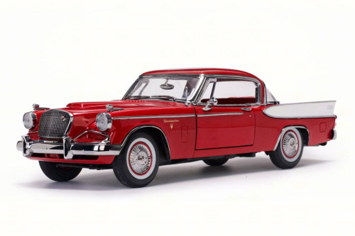 1957 Studebaker Golden Hawk, Apache Red - Sun Star 6153 - 1/18 Scale Diecast Model Toy Car
