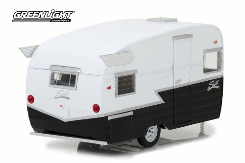 Shasta 15' Airflyte, Black and white - Greenlight 18440B/12 - 1/24 scale Diecast Model Toy Car