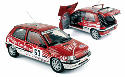 1991 Renault Clio 16S Race Car #53 - Norev 185233 - 1/18 Scale Diecast Model Toy Car