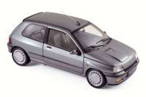 1991 Renault Clio 16S, Tungsten Gray - Norev 185234 - 1/18 Scale Diecast Model Toy Car