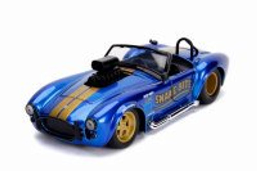 1965 Shelby Cobra 427 S/C Convertible, Candy Blue - Jada 30978DP1 - 1/24 scale Diecast Model Toy Car