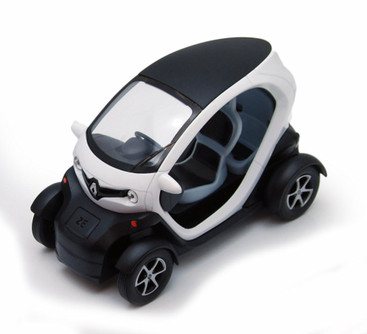 "Renault Twizy, White - Kinsmart 5111D - 5"" Diecast Model Toy Car"