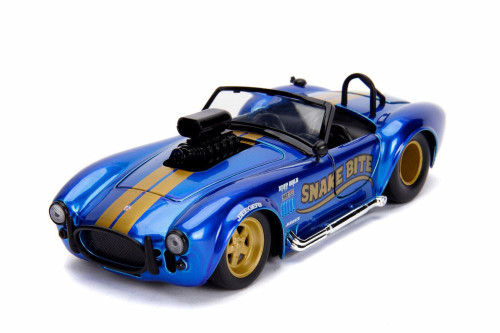 1965 Shelby Cobra 427 S/C Convertible, Candy Blue - Jada 30706 - 1/24 scale Diecast Model Toy Car