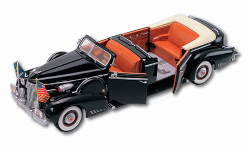 1938 Cadillac V-16 Presidential Limousine Convertible - Road Signature 24028 - 1/24 Scale Diecast Model Toy Car