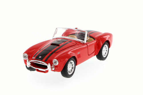 1965 Shelby Cobra 427 Convertible, Red - Maisto 31276 - 1/24 Scale Diecast Model Toy Car