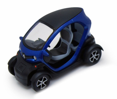 "Renault Twizy, Blue - Kinsmart 5111D - 5"" Diecast Model Toy Car (Brand New, but NOT IN BOX)"