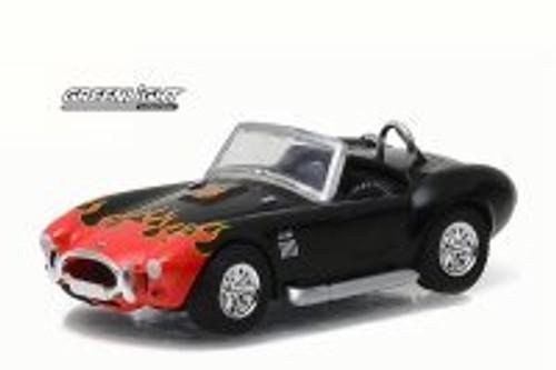 1965 Shelby Cobra 427 S/C, Black w/ Orange Flames - Greenlight 96170C - 1/64 Scale Diecast Model Toy Car