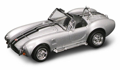 1964 Shelby Cobra 427S/C Convertible, Silver w/ Stripes - Yatming 94227 - 1/43 Scale Diecast Model Toy Car