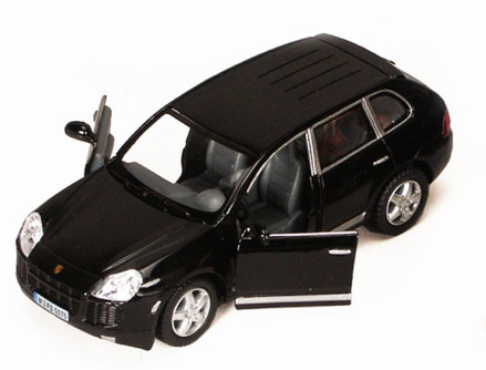 Porsche Cayenne SUV, Black - Kinsmart 5075D - 1/38 scale Diecast Model Toy Car (Brand New, but NOT IN BOX)
