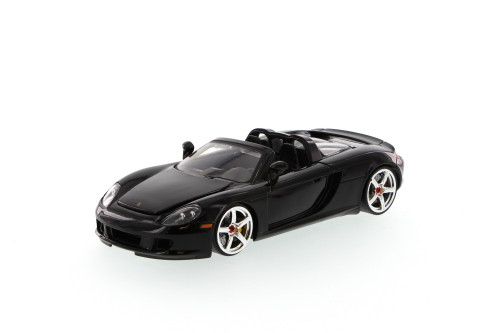 Porsche Carrera GT Convertible, Black - Jada Toys Bigtime Kustoms 91994 - 1/24 scale Diecast Model Toy Car (Brand New, but NOT IN BOX)