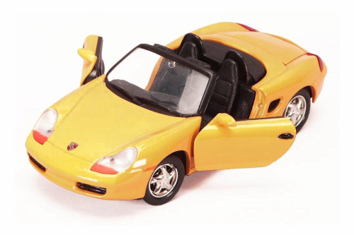 Porsche Boxster Convertible, Yellow - Showcasts 73226WYL - 1/24 scale Diecast Model Toy Car
