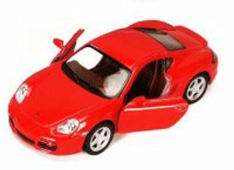 Porsche Cayman S, Red - Kinsmart 5307D - 1/34 scale Diecast Model Toy Car (Brand New, but NOT IN BOX)