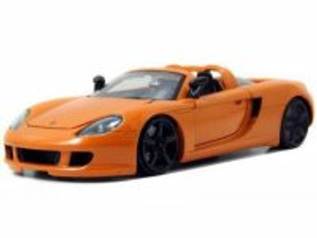 Porsche Carrera GT convertible, Orange - Jada Toys 96955 - 1/24 scale Diecast Model Toy Car