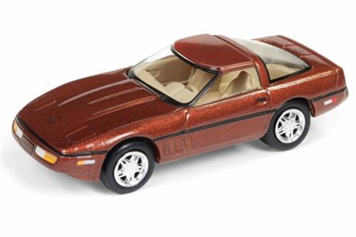 1988 Chevy Corvette, Dark Bronze Metallic - Round 2 JLMC014/48B - 1/64 Scale Diecast Model Toy Car