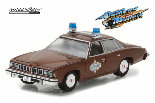 1977 Pontiac LeMans Smokey and the Bandit, Brown - Greenlight 44780B/48 - 1/64 Scale Diecast Model Toy Car