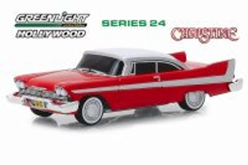 1958 Plymouth Fury (Evil Version with Blacked Out Windows), Christine - Greenlight 44840B/48 - 1/64 scale Diecast Model Toy Car